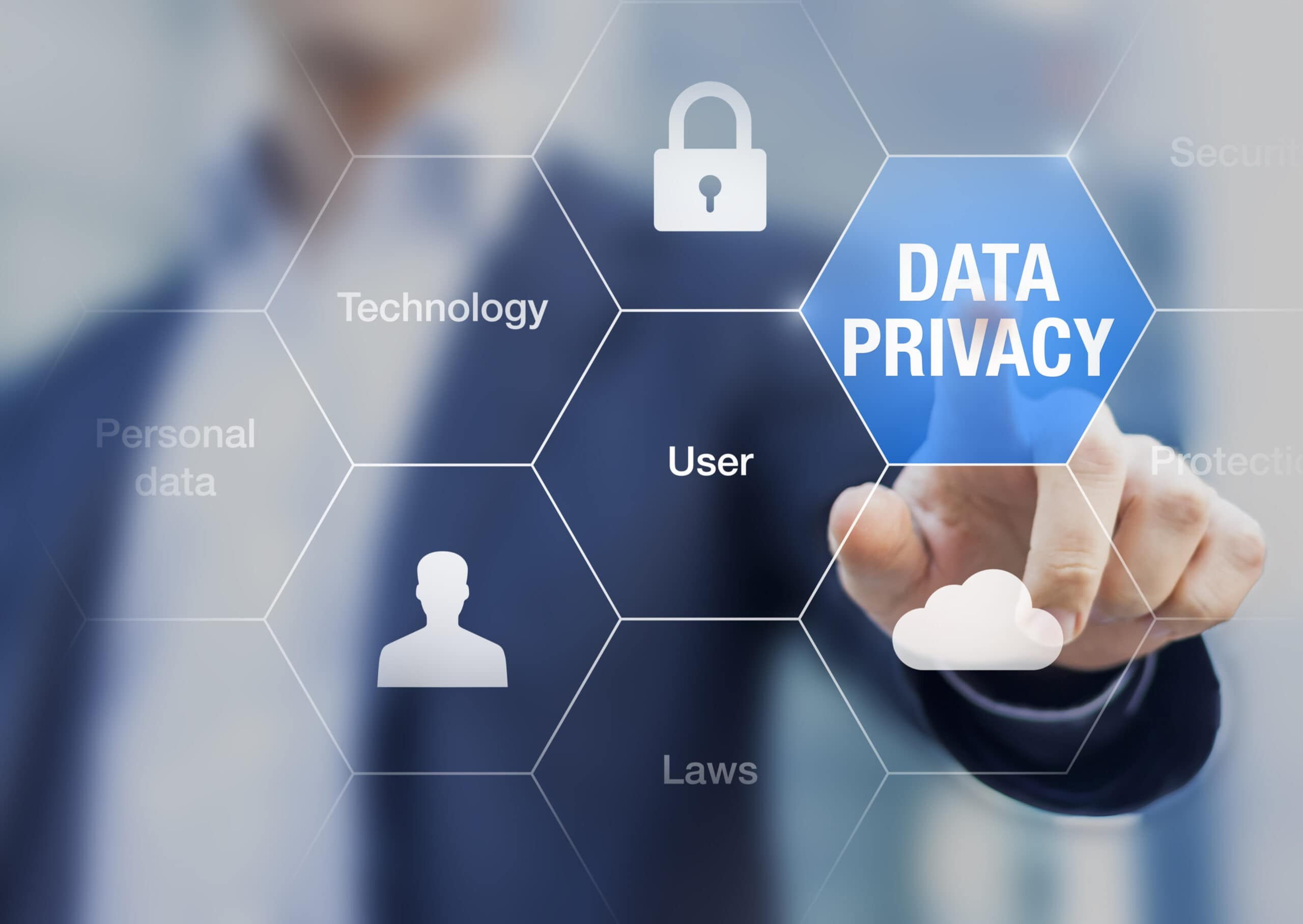 Data privacy enable to protect personal data on internet while providing technology services to users